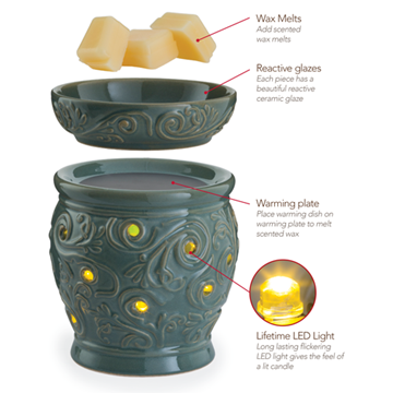 glimmer candle wax melt warmer in casablanca soy works candle company. Black Bedroom Furniture Sets. Home Design Ideas