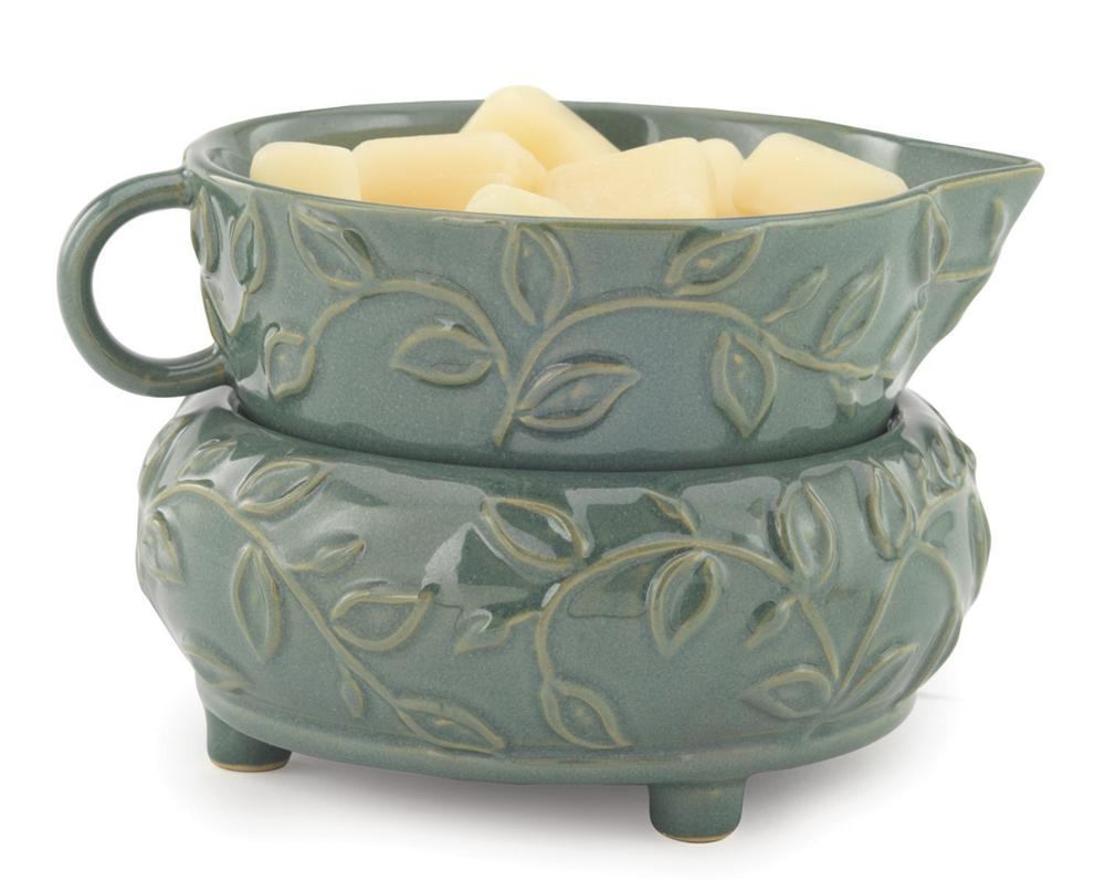 Electric Scented Wax Warmers ~ Candle wax melt warmer in mint leaf soy works